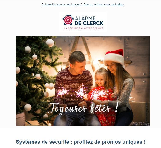 Alarme De Clerck : newsletter fêtes
