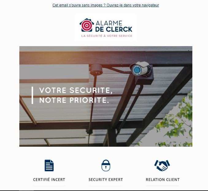Alarme De Clerck : newsletter salon