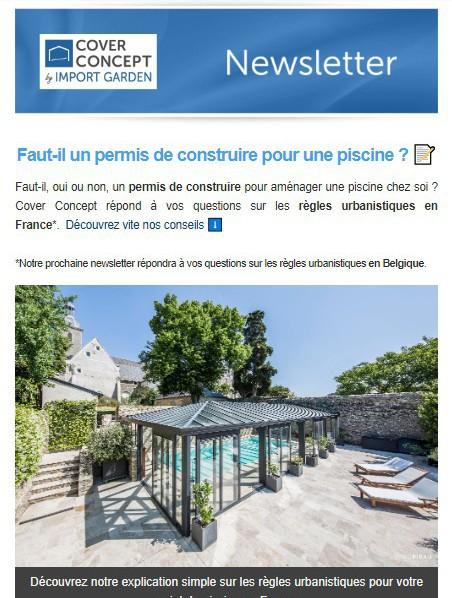 Cover Concept : faut-il un permis de construire pour une piscine ?