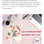 Les Bourgeoises : newsletter live