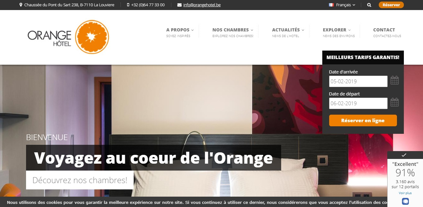 Orange Hotel : SEO du site