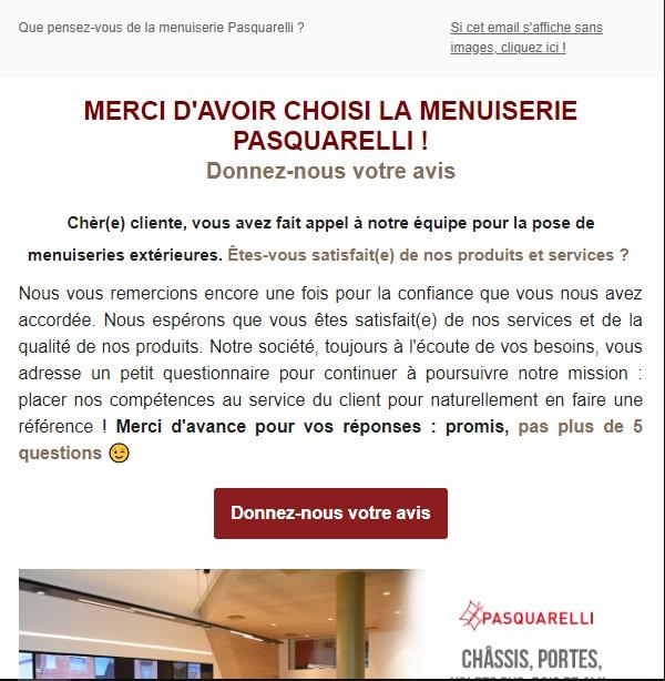 Pasquarelli : newsletter avis