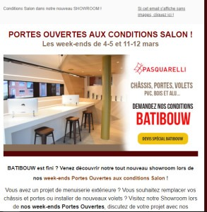 Pasquarelli : newsletter portes ouvertes
