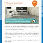 Newsletter de Servimat : portes ouvertes